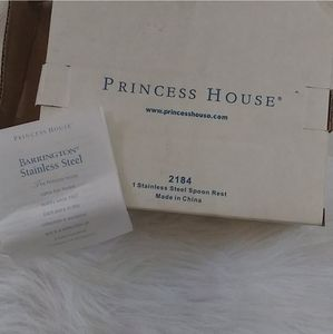Princess House Kitchen - Vintage Princess House Stainless Steel Spoon Rest